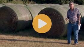 Round bale storage