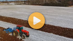 Winter work with AGCO equipment