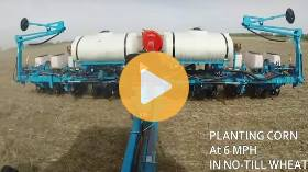 Planting corn into no-till winter wheat
