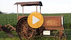 Vintage tractor on display