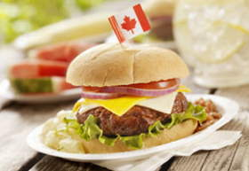 GettyImages-burger with Canadian flag