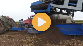 Crop Shuttle with Cleaning Table