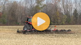 Disking with Case IH equipment
