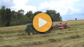 Chopping hay with CLAAS equipment